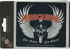 AIRBOURNE no guts/wings 2012 oblong VINYL STICKER official (sealed) DELETED