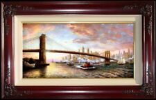 "Thomas Kinkade The Spirit of New York PANORAMIC 18"" x 36"" S/N Limited Canvas"