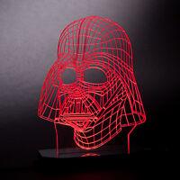 Darth Vader Star Wars Charecter 3D Illusion Model LED Lamp Night Light Kids Room