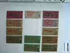 M1353 Kirby. 12 Bus/Tram Tickets. Ratby Service. **
