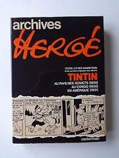 BD Archives hergé - Tome 1 -  RE -1974 -TBE- Hergé