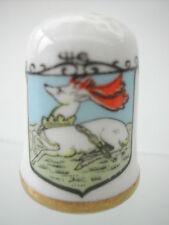 Dé à coudre porcelaine Thimble - ANGLAIS CAVERSWALL FAMOUS INN SIGNS WHITE HART