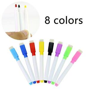 1pcs Magnetic Whiteboard Pen,Markers Erasable Drawing Recording Magnet NEW