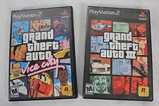 Lot of 2 Sony PS2 GTA Games GRAND THEFT AUTO 3 & VICE CITY w/ Posters - Both CIB