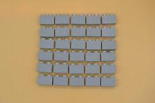 Lego 30 x piedras 1x2 estriado neuhell gris newlight Grey perfiles Brick 2877
