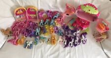 Huge Lot of My Little Ponies (38) Treehouse Lights Theatre Wings Unicorns Apples