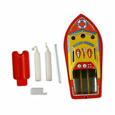 Retro Steam Boat Candles Powered Put Put Ship Collec table Tin Toys Decor