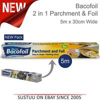 Bacofoil 2 in 1 Parchment & Aluminium Foil│For Cooking/Baking/Roasting/Wrapping