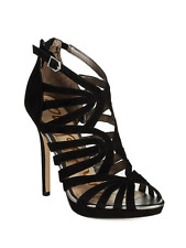 Sam Edelman EVE Caged Leather Suade Sandal Heels Size 8 NEW