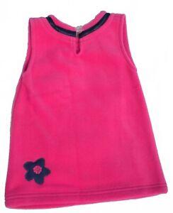 SALE Girls Childrens Toddlers Kids Warm Winter Fleece Flower Casual Dress 1-6yrs