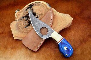 MH KNIVES CUSTOM HANDMADE DAMASCUS STEEL FULL TANG HUNTING/SKINNER KNIFE MH-402Z