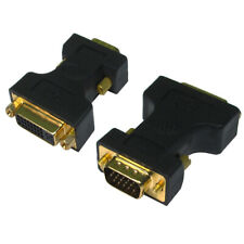 DVI-I Female Socket to SVGA/VGA Male PC Monitor TV Adapter Converter HDTV GOLD