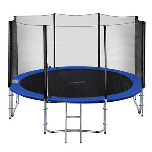 Exacme Outdoor Trampoline 16 15 14 12 10 8 FT with Enclosure Net Ladder, T8-T16