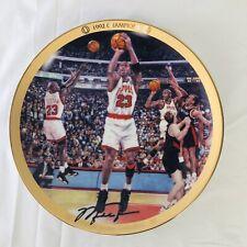"""Vintage 1996 Collectors Plate Michael Jordan """"1992 Champions"""" Upper Deck w/ COA"""