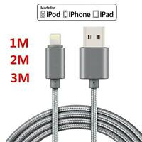1/2/3M Fast Sync Charger USB Data Cable for i Phone 5 6 6s 7 8Plus i-Pad