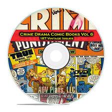 Crime Drama, Suspense, Vol 6, Wanted Comics, Gem, Golden Age Comics DVD D79