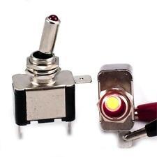 4 un., 12v Luz Roja Iluminado Interruptor Wrenedificio CollegeofWilliam&
