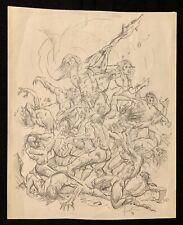 Original Comic Art Cover Pencil Sketch- Conan The Rogue - Joe Jusko 1991 Marvel