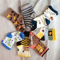 3 pairs Cartoon Newborn Baby Boy Girl non slip Socks Slipper Shoes Children Shoe