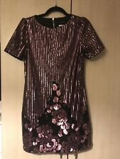 BLACK & ROSE SEQUIN FLOWER PARTY DRESS - NEW LOOK INSPIRE BNWT Size 10 Cost £50