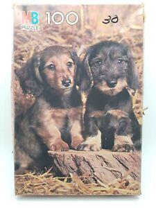 Junior Puzzle 100 Pieces - 2 Puppies (4828-15) Milton Bradley 1983