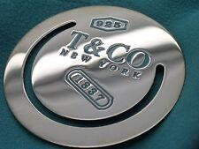Tiffany & Co. Sterling Silver & Blue Enamel 1837 Bookmark in Tiffany Pouch & Box