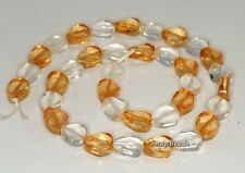 12X10MM  MIX QUARTZ GEMSTONE TWIST OVAL LOOSE BEADS 7.5""