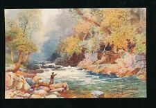 Devon TAVISTOCK River Tavy Tuck Oilette 7077 PPC artist H Wimbush