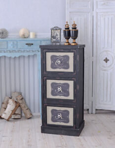 Dresser Antique Table Shabby Kommodenschrank Black Bathroom Cabinet Cottage