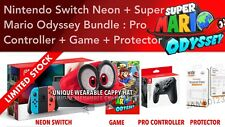 Nintendo Switch Console Super Mario Odyssey, Pro Controller, Cappy Hat Bundle