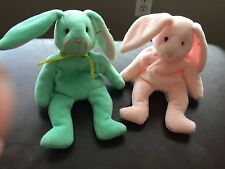 Ty rare Beanie Babies Hippity and Hoppity w/tag defects