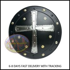 """18"""" Medieval Knight Shield Iron Steel Norman Viking Spartan Larp Role-Play Armor"""