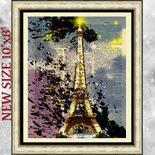 Impression artistique sur la page de livre ancien DICTIONNAIRE Tour Eiffel Tour Eiffel vintage
