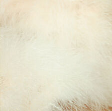 Ivory blush pink real Ostrich Feather furry Fur coat cape stole shawl bridal new