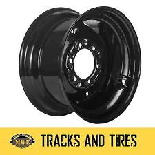 4 NEW 16.5x8.25 Skid Steer Loader Wheels fits 10x16.5 Tires 6 Lug Black Rims