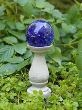 Miniature Dollhouse Fairy Garden ~ Cobalt Blue Glass Gazing Ball Pick ~ New