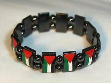 New Palestinian Bracelet - Stretchable Metal Chrome Palestine Flags Wristband