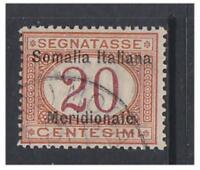 Somalia - 1906/8, 20c Postage Due stamp - F/U - SG D19