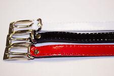 Gürtel Damen schmal Lackgürtel Kleid Rock Damengürtel ca. 90-100 cm