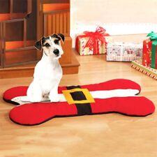 Christmas Santa Belt Design Pet Dog Bone Bed Pet Sleep Mat Cat Couch Pad Decor