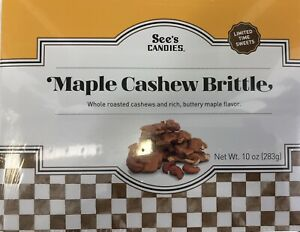 See's Candies  Maple Cashew Brittle 10oz  Customer Appreciation Special Limited
