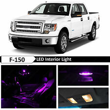 13x Purple Interior LED Lights Package Kit for 2009-2014 Ford F-150 F150
