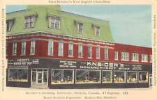 Dunnville Ontario Canada Kneiders Building Exterior View Antique Postcard J60175