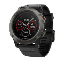 Garmin fēnix 5X Multisport GPS Watch - Slate Gray Sapphire with Black Band