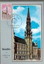 1973 - FDC CP 1°JOUR - HOTEL DE VILLE-BRUXELLES - OBL.PARIS - TIMBRE - Yt.1752