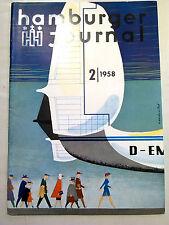 HAMBURGER JOURNAL 1958  Presse Design 50er 50ies HH St. Pauli Hamburg antik