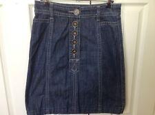 EUC - JAG denim button front skirt (size 6)