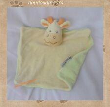 Doudou Plat Vache Girafe  Verte Jaune Orange  bébé rêve Amtoys