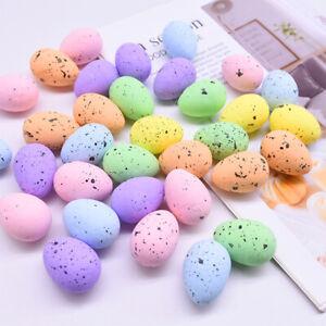 30Pcs DIY Handmade Easter Foam Bright Color Fake Bird Pigeon Egg Party Decors