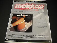 MOLOTOV 4 times Gold in Mexico with panties down around knees 1998 PROMO AD